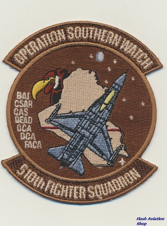 Image not found :510th Fighter Squadron, Operation Southern Watch (Desert, F-16)