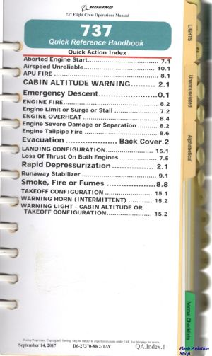 Image not found :737 Quick Reference Handbook (2000)