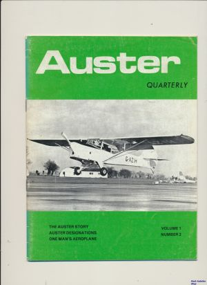 Image not found :Summer 1975. Auster Story, Auster Designations, One Man's Aeroplane