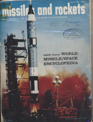 Image not found :July 27, 1964. Eight Annual World Missile/Space Encyclopedia